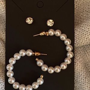 New pearl earrings set